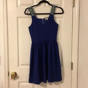 Miami Dress with Floral Straps